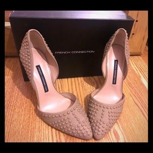 French Connection Maggie studded leather pump